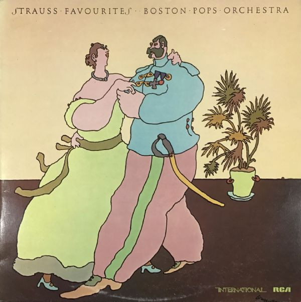 STRAUSS FAVOURITES: The Boston Pops Orchestra 1974 Vinyl LP